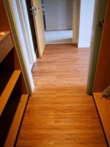 Vinyl Floor Lantai Timber Laminate PVC Floor Q599