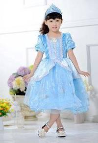 Style Charming FROZEN New Design Elsa Gown Blue