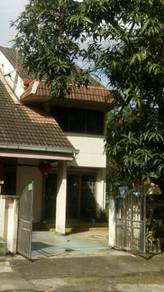 Double storey corner lot with land by the side