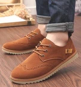 F0225 British Classic Brown Kasut Murah Men Shoes