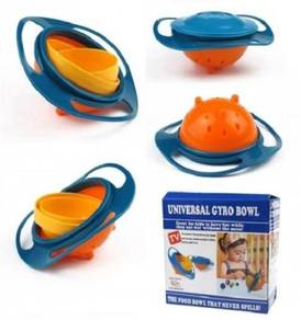 360 Rotating Non Spill Feeding Toddler Gyro Bowl