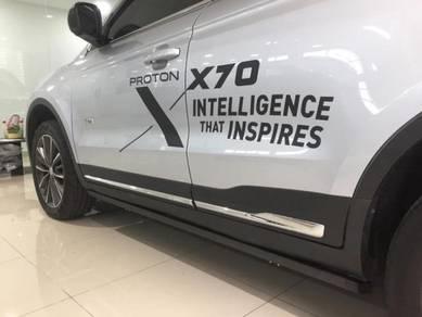 Proton x70 auto power running board side door step