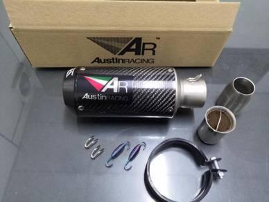 Ekzos exhaust austin racing carbon fiber universal