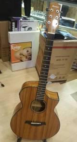 Ibanez AEW-40ZW-NT acoustic guitar with fishman EQ
