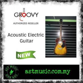 Groovy Electric Acoustic Guitar With Bag