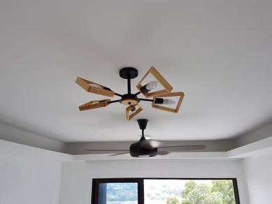 Fan Light Heater Installation Pasang Lampu