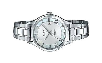 Casio Lady Stainless Steel Date Watch LTP-E142D-7A