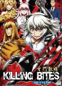DVD ANIME Killing Bites Vol.1-12 End
