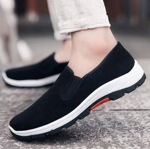 F0267 Black Wear Hiking Slip On Kasut Murah Shoes