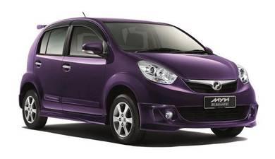 Perodua myvi elegance bodykit w spoiler n paint