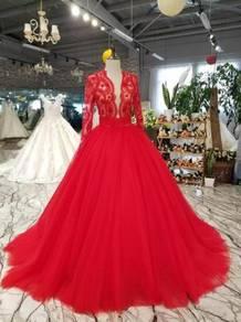 Red blue wedding bridal prom dress gown RBMWD0156