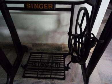 Marble side table kaki mesin jahit sewing singer