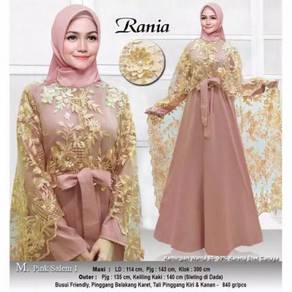 Rania maxi dress long sleeve red nude green blue