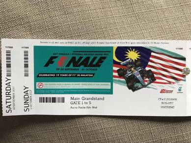 Tiket F1 Sepang (Grandstand)