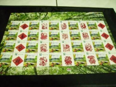 12 Zodiac stamps