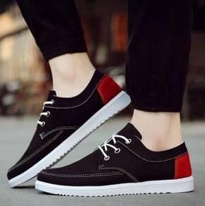 F0231 Black Low-Top Sneakers Men Kasut Murah Shoes
