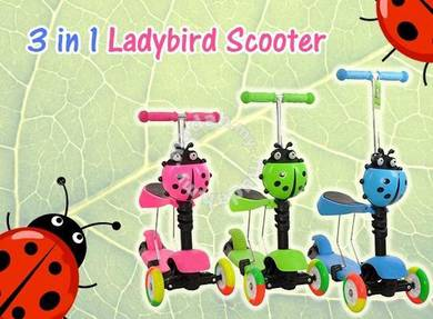 3 in 1 scooter ladybird