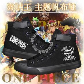 One piece luffy marine chopper canvas shoes