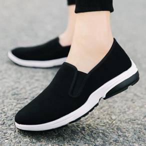 F0269 Simple Wear Slip On Black Kasut Murah Shoes