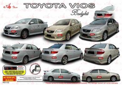 Toyota vios 03 06 AM Bodykit body kit skirt lip