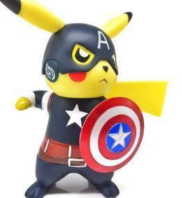 Pikachu captain america