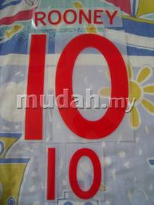 England Home 10-11 World Cup Rooney Nameset