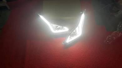 Hyundai elantra 2015 fog lamp drl led daylight