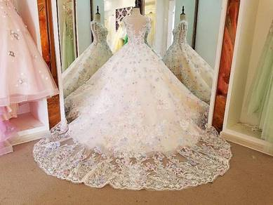 White party prom wedding bridal dress RB0190