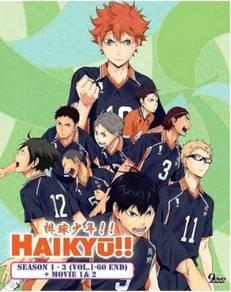 DVD ANIME HAIKYU Sea 1-3 + 2 Movie
