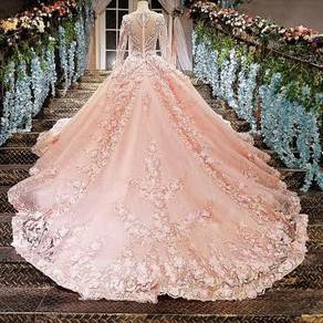 Pink dinner party prom wedding bridal dress RB0185