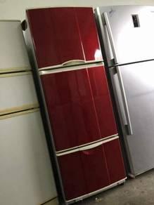 National 3 doors Fridge Refrigerator Peti Sejuk