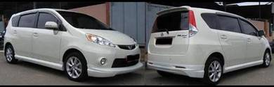 Perodua alza bodykit kenstyle paint body kit