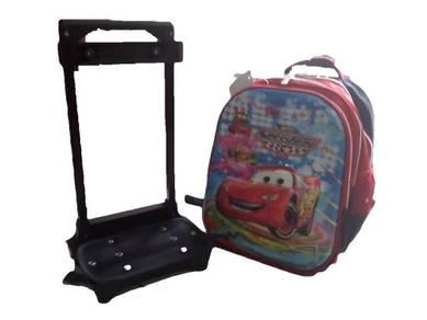 14in 6D Design Trolley Bag School bag CARS