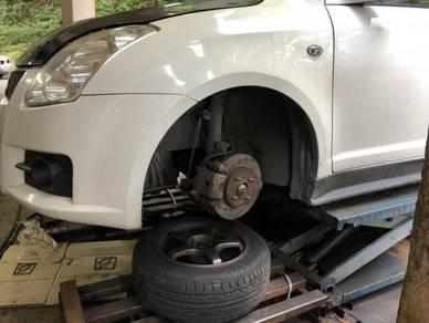 Front brake disc suzuki swift twinpot