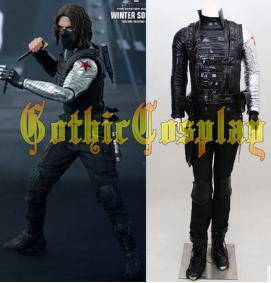 Gothic captain america costume 1 set