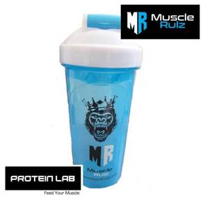 MuscleRulz Hydroblade Blue and White Shaker 25oz