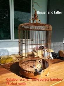 Quality Purple Bamboo Bird Cage Sangkar Burung