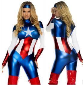 Captain america women costume 2 cosplay