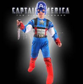 Captain america COSTUME baby boy superhero cosplay