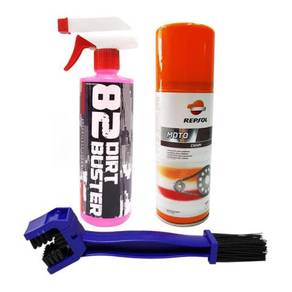 Package 82 Dirt Buster Degreaser REPSOL Chain Lube