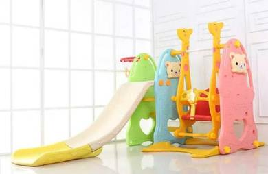 Pink or multicolored playground 3in1