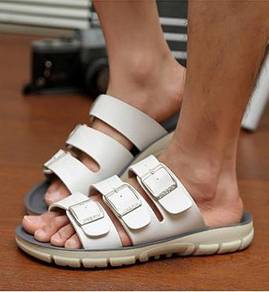 F0235 Summer White Sandal Buckle Kasut Murah Shoes