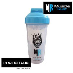 MuscleRulz Hydroblade White and Blue Shaker 25oz