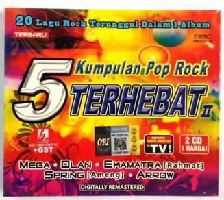 CD 5 Kumpulan Pop Rock Terhebat II Mega Olan Ekamt