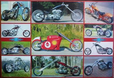 Poster HARLEY DAVIDSON MOTORCYCLE BIG BIKE VINTAGE