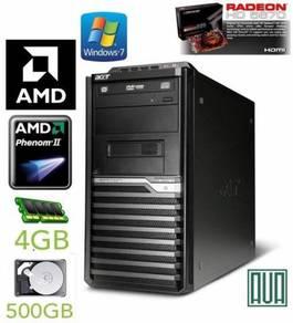 Acer Veriton M421 Phenom x4 4GB 500GB Win 7 PC