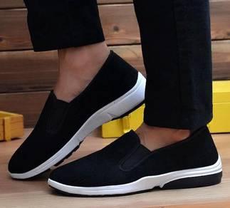 F0269 Black Slip On Breathable Kasut Murah Shoes