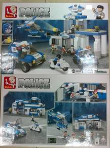 Kids Education Toys Police Station Lego ( Balai Po