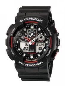 Casio G-Shock Men Velocity Alarm Watch GA-100-1A4D