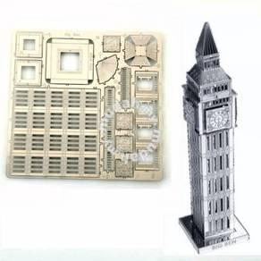 3D Nano Steel Laser Cut Puzzle - Big Ben